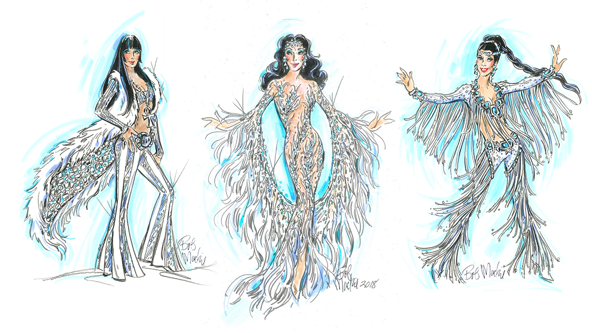 A sketch for The Cher Show by Bob Mackie.