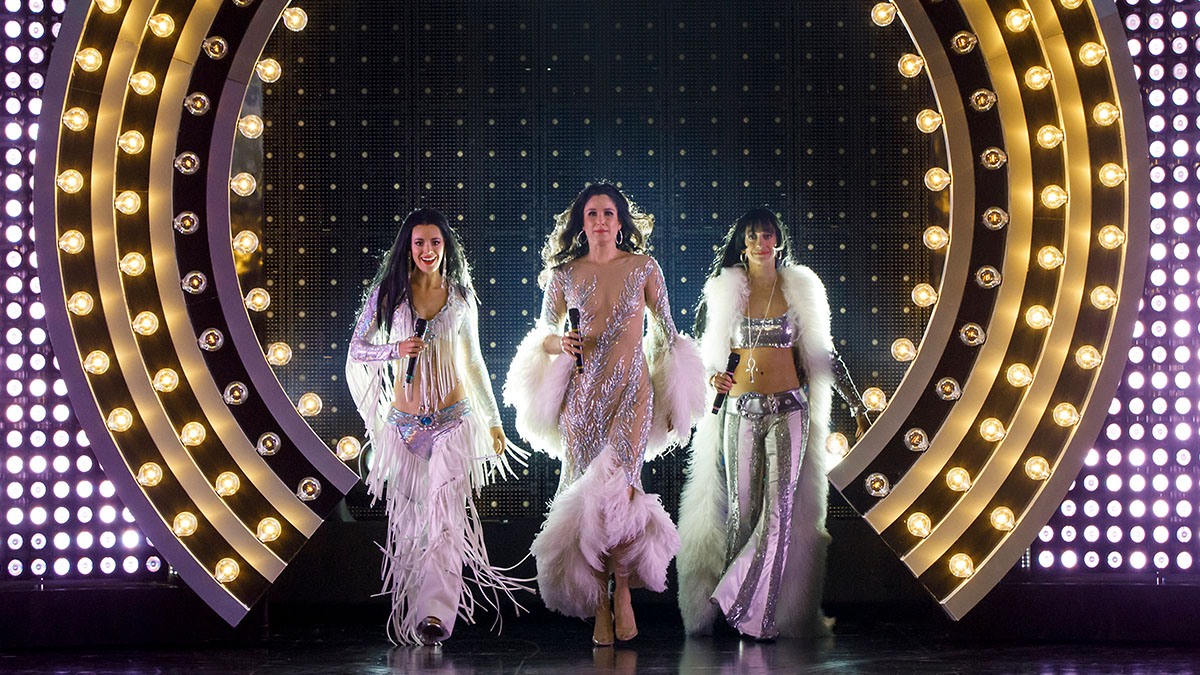 Teal Wicks, Stephanie J. Block, and Micaela Diamond in The Cher Show.