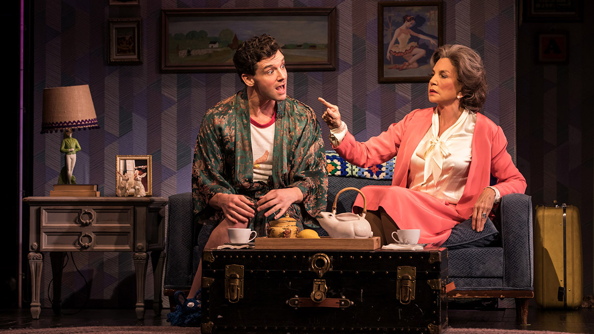 Michael Urie and Mercedes Ruehl in Torch Song. Photo by Matthew Murphy.