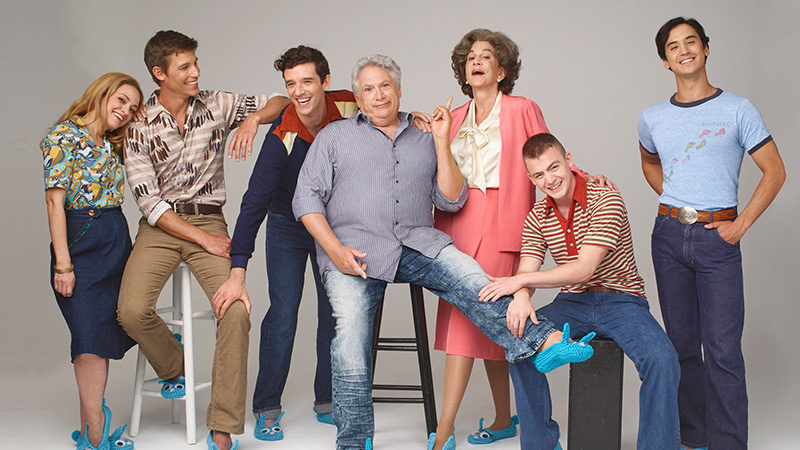 Harvey Fierstein and the Broadway revival cast of Torch Song.
