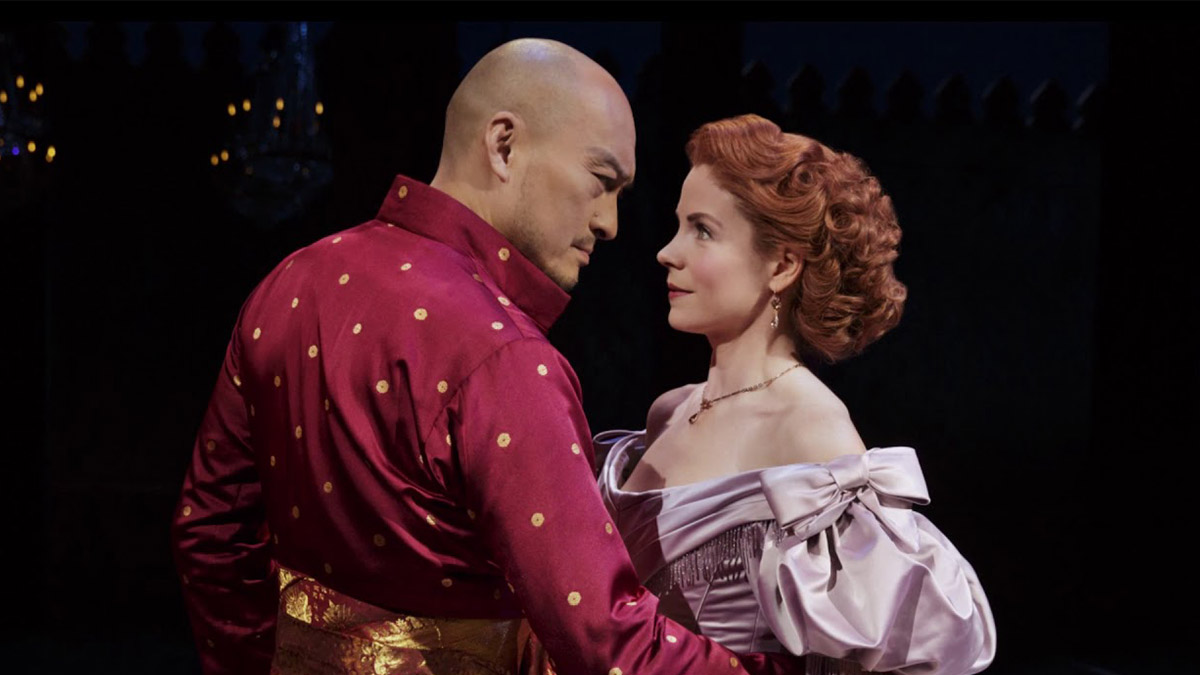 Ken Watanabe and Kelli O'Hara in the West End production of The King And I, which will be available for streaming on BroadwayHD