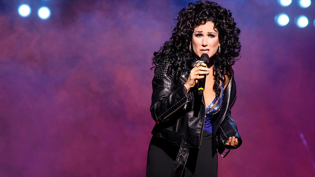 Stephanie J. Block in <i>The Cher Show</i> on Broadway. Photo by Joan Marcus.