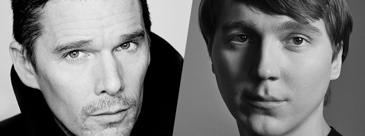 Ethan Hawke and Paul Dano in Black and White photographs