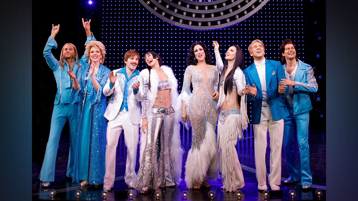 The cast of The Cher Show. Photo by Joan Marcus.