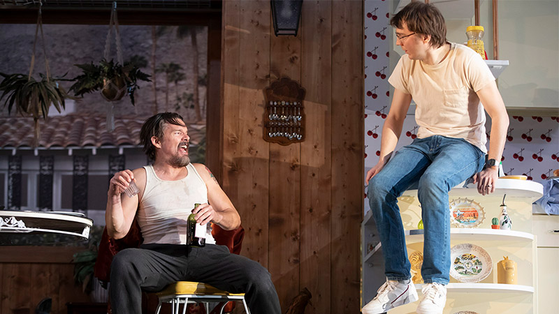 Ethan Hawke and Paul Dano in <i>True West</i>. Photo by Joan Marcus.