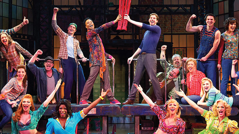The original Broadway company of Kinky Boots