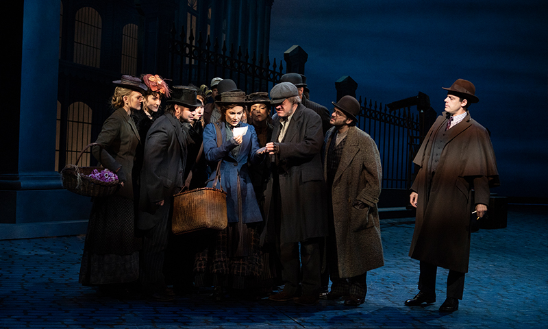 Laura Benanti, Harry Hadden-Paton and the company in <i>My Fair Lady</i>. Photo by Joan Marcus.