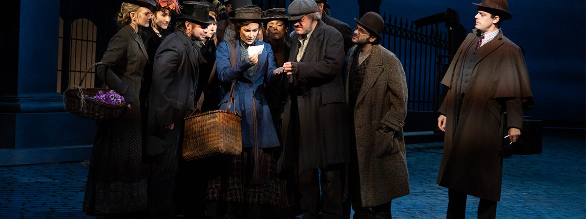 Laura Benanti, Harry Hadden-Paton, and company in My Fair Lady. Photo by Joan Marcus.