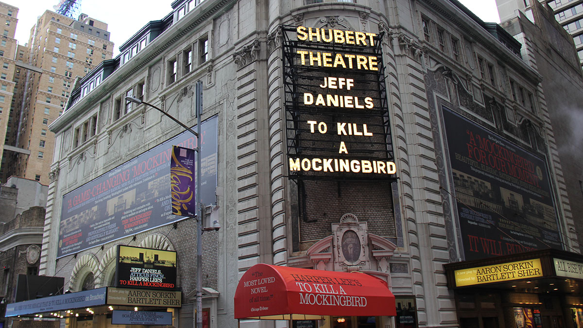 The Shubert Theatre Marquee