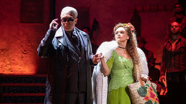 Patrick Page and Amber Gray in Hadestown