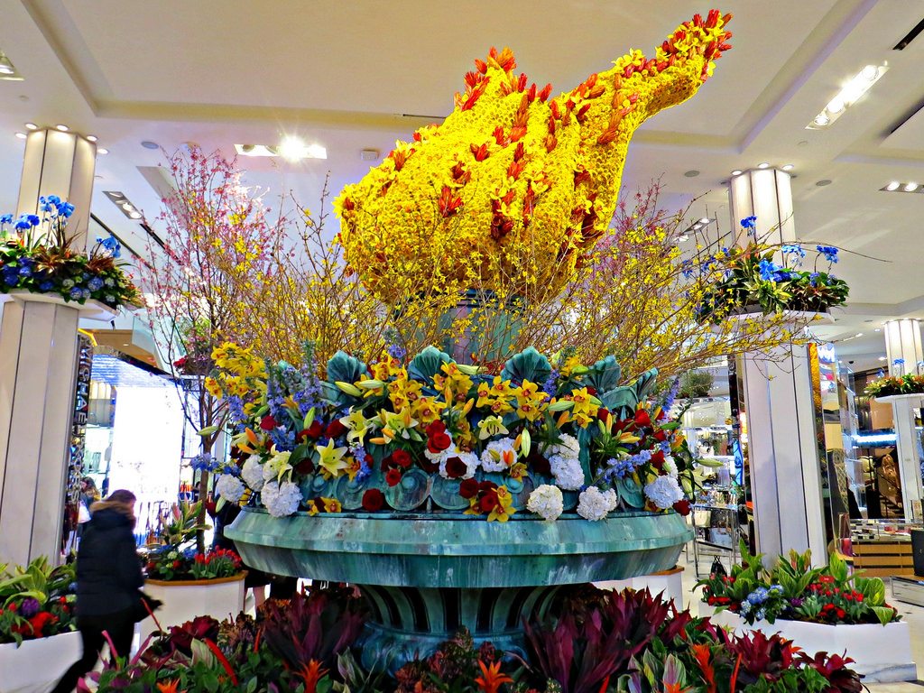 Flowers at the annual Macy's Flower Show.