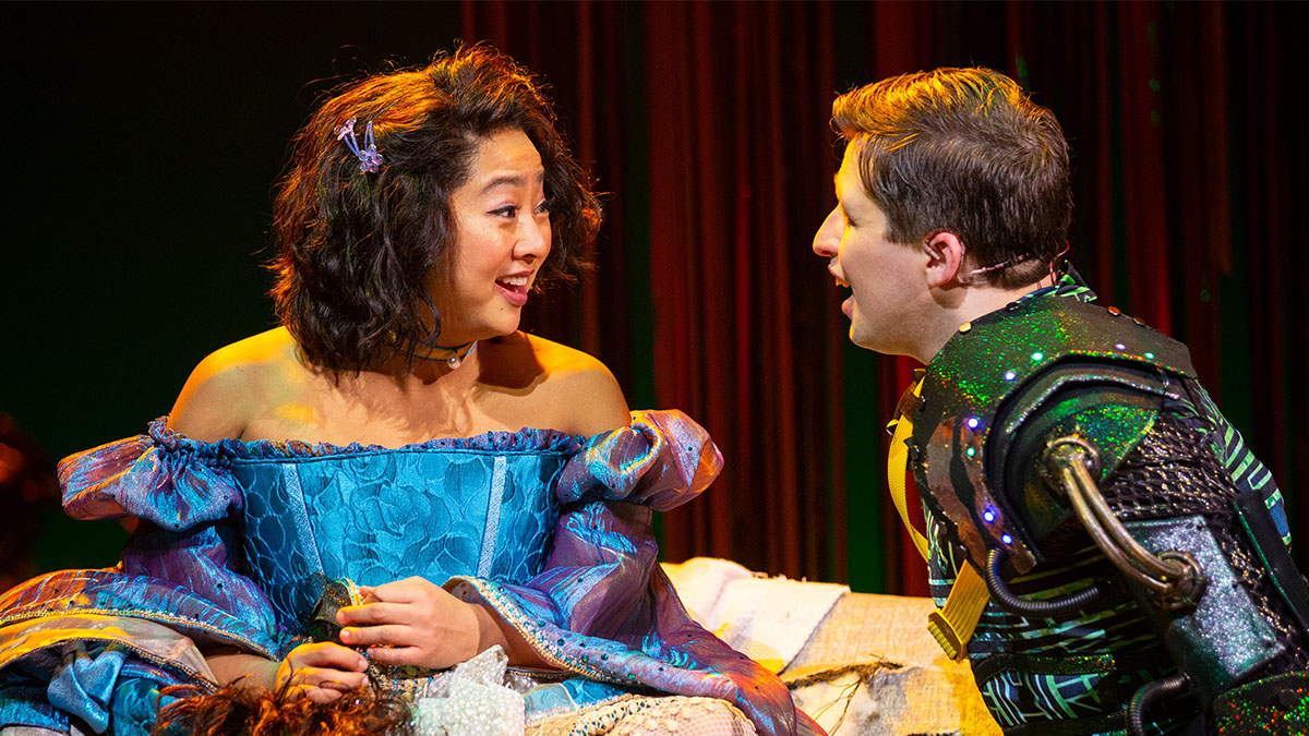 Stephanie Hsu and Will Roland in Be More Chill. Photo by Maria Baranova.