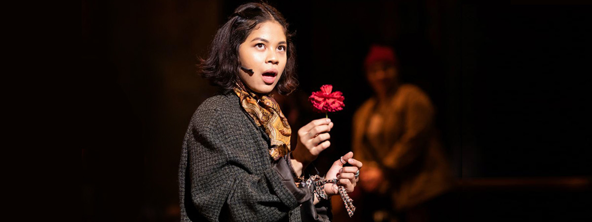 Eva Noblezada in the London production of Hadestown at the National Theatre