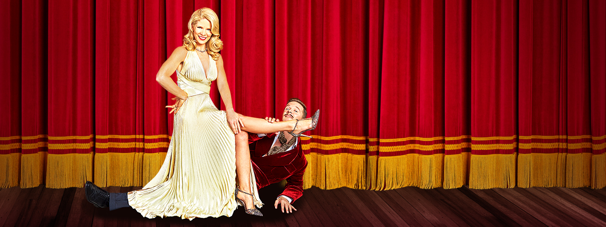 Kelli O'Hara and Will Chase in Kiss Me, Kate, the Broadway Revival