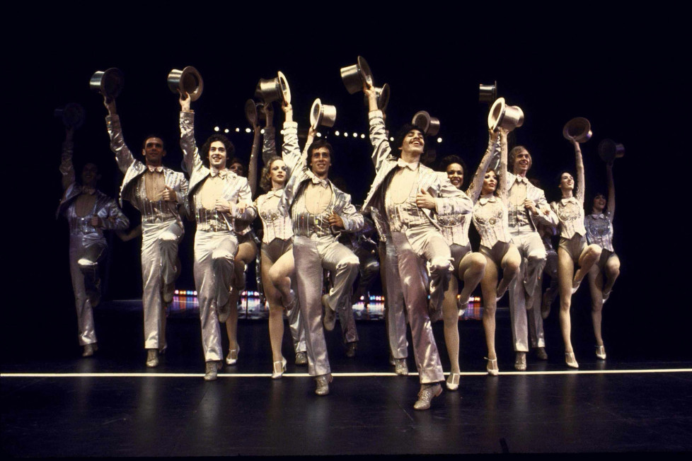 The original Broadway cast of A Chorus Line on Broadway.