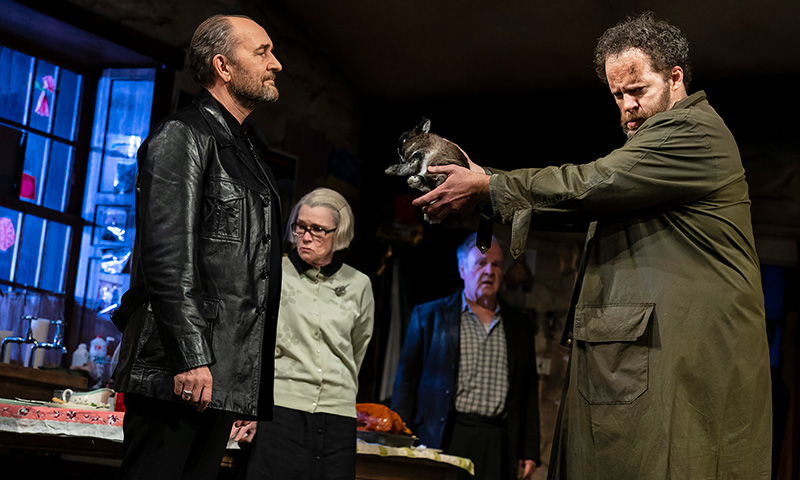 Ralph Brown, Ann McDonough, Fred Applegate and Shuler Hensley in <i>The Ferryman</i>. Photo by Joan Marcus.