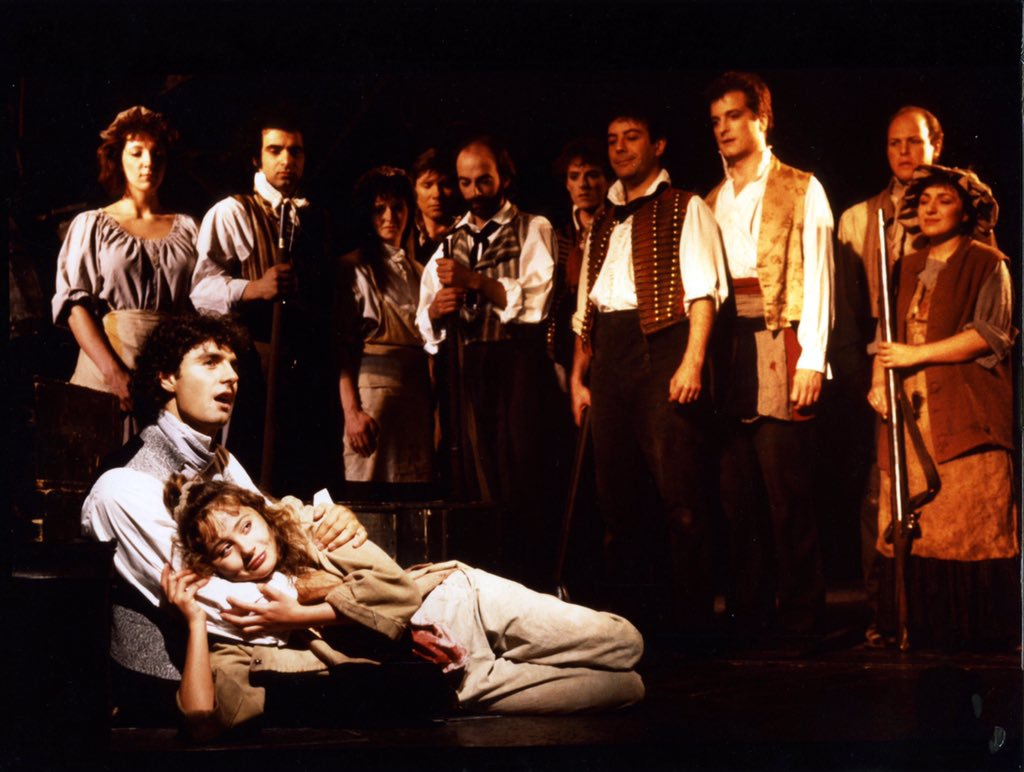 The original Broadway cast of Les Miserables on Broadway.