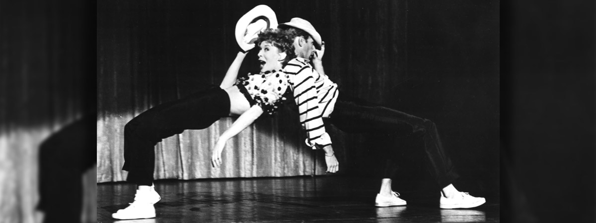 Gwen Verdon and Bob Fosse dancing in Damn Yankees