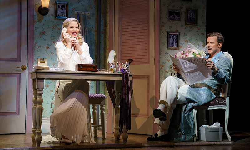 Kelli O'Hara and Will Chase in <i>Kiss Me, Kate</i>. Photo by Joan Marcus.