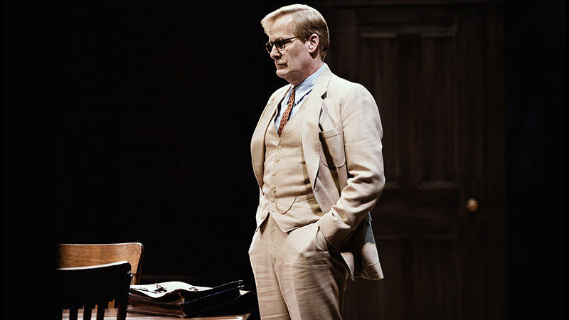 Jeff Daniels as Atticus Finch in the Broadway play To Kill a Mockingbird, written by Aaron Sorkin