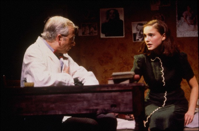 Natalie Portman in the 1997 Broadway production of The Diary of Anne Frank