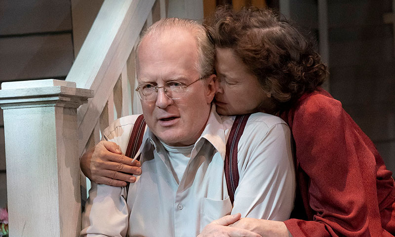 Tracy Letts, Benjamin Walker and Annette Bening <i>All My Sons</i>. Photo by Joan Marcus.