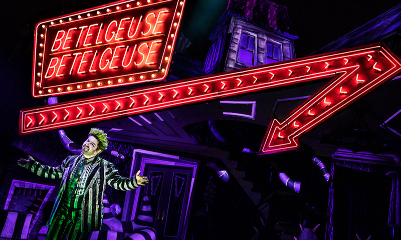 Alex Brightman in <i>Beetlejuice</i>. Photo by Matthew Murphy.
