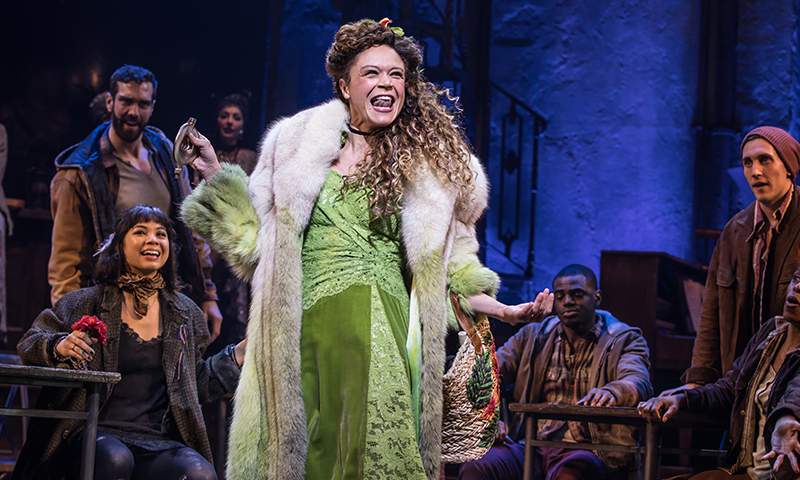 Amber Gray and the Broadway cast of <i>Hadestown</i>. Photo by Matthew Murphy.