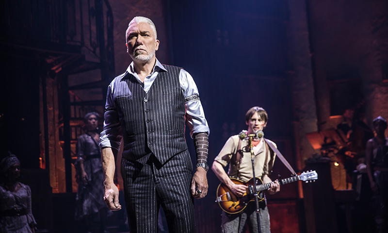 Patrick Page and Reeve Carney in <i>Hadestown</i>. Photo by Matthew Murphy.