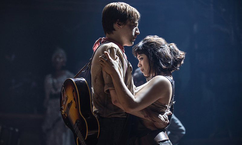 Reeve Carney and Eva Noblezada in <i>Hadestown</i>. Photo by Matthew Murphy.