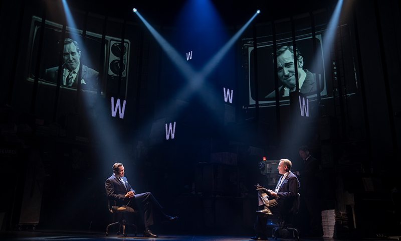 Bertie Carvel and Kevin Pariseau in <i>Ink</i>. Photo by Joan Marcus.