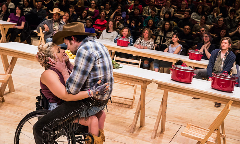 Ali Stroker & James Davis in <i>Oklahoma!</i> Photo by Little Fang.