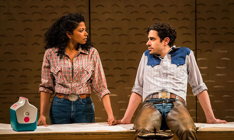 Rebecca Naomi Jones and Damon Daunno in <i>Oklahoma!</i> Photo by Little Fang.