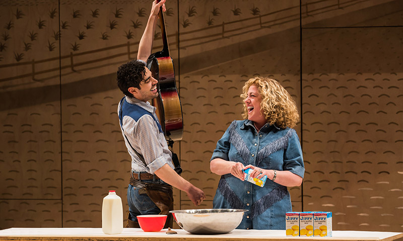 Damon Daunno and Mary Testa in <i>Oklahoma!</i> Photo by Little Fang.