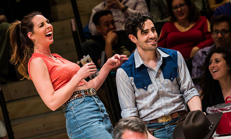 Mallory Portnoy and Damon Daunno in <i>Oklahoma!</i> Photo by Little Fang.