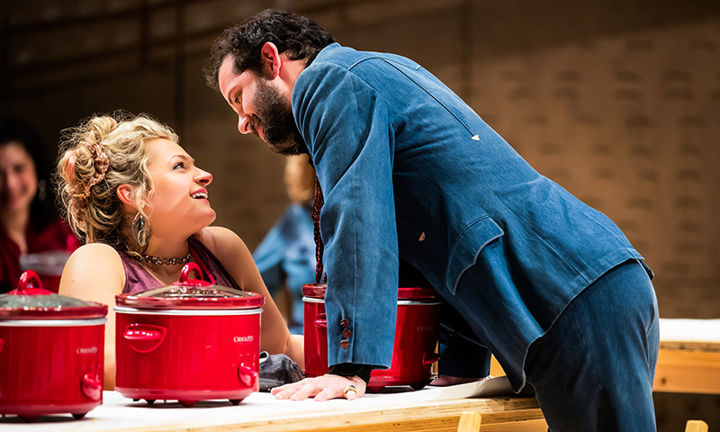 Ali Stroker and Will Brill in <i>Oklahoma!</i> Photo by Little Fang.