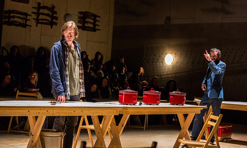 Patrick Vaill and Will Brill in <i>Oklahoma!</i> Photo by Little Fang.