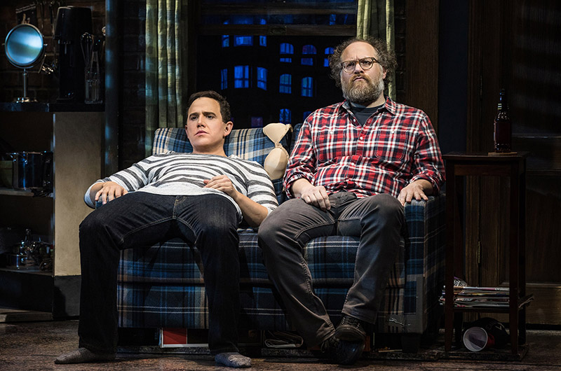 Santino Fontana and Andy Grotelueschen in <i>Tootsie</i>. Photo by Matthew Murphy.