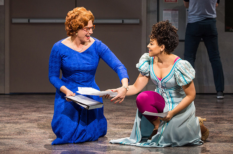 Santino Fontana and Lilli Cooper in <i>Tootsie</i>. Photo by Matthew Murphy.