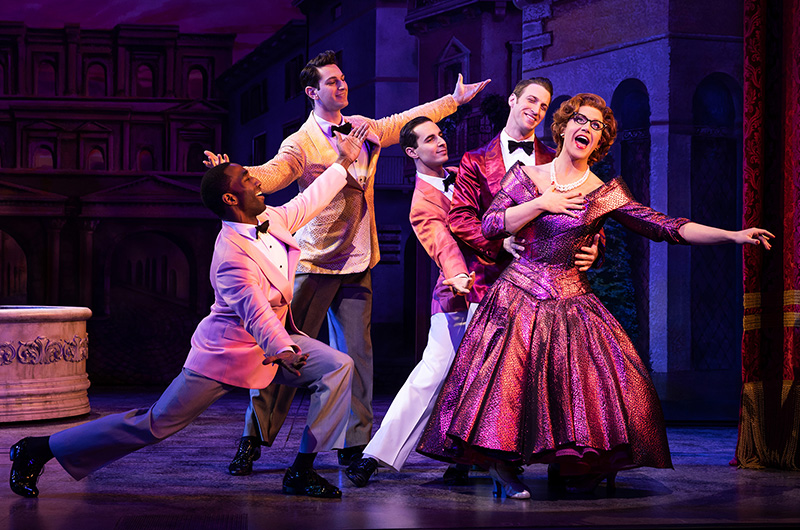 Santino Fontana and Company in <i>Tootsie</i>. Photo by Matthew Murphy.