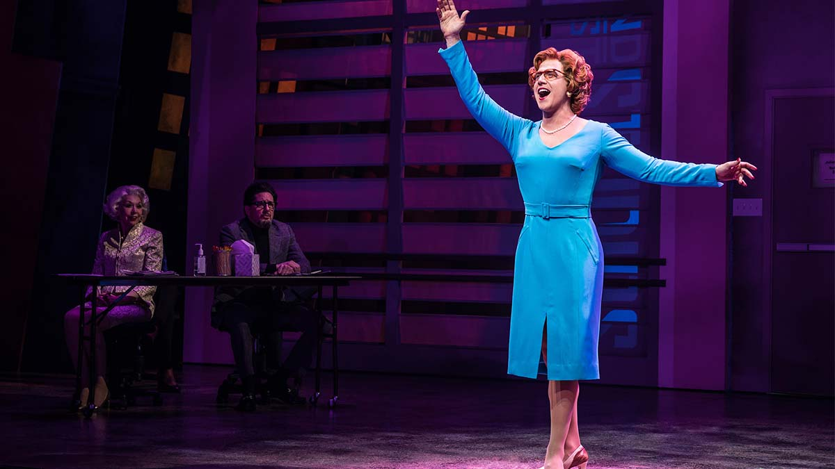 Santino Fontana and the cast of Tootsie the Comedy Musical on Broadway