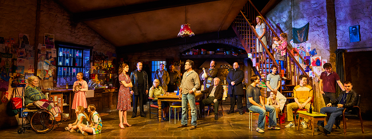 The Broadway cast of The Ferryman, now starring Brian D'arcy James