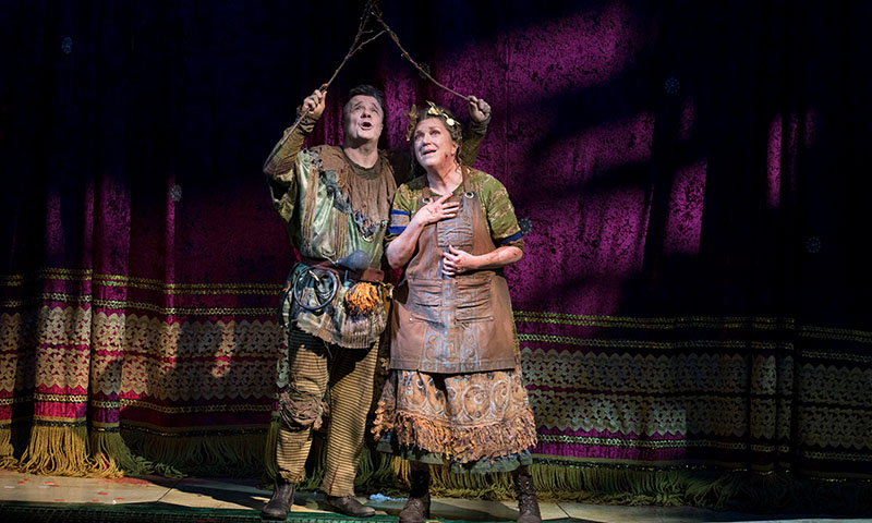Nathan Lane and Kristine Nielsen in <i>Gary</i>. Photo by Julieta Cervantes.