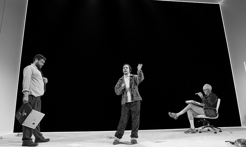 Zak Orth, Laurie Metcalf and John Lithgow in <i>Hillary and Clinton</i>. Photo by Julieta Cervantes.