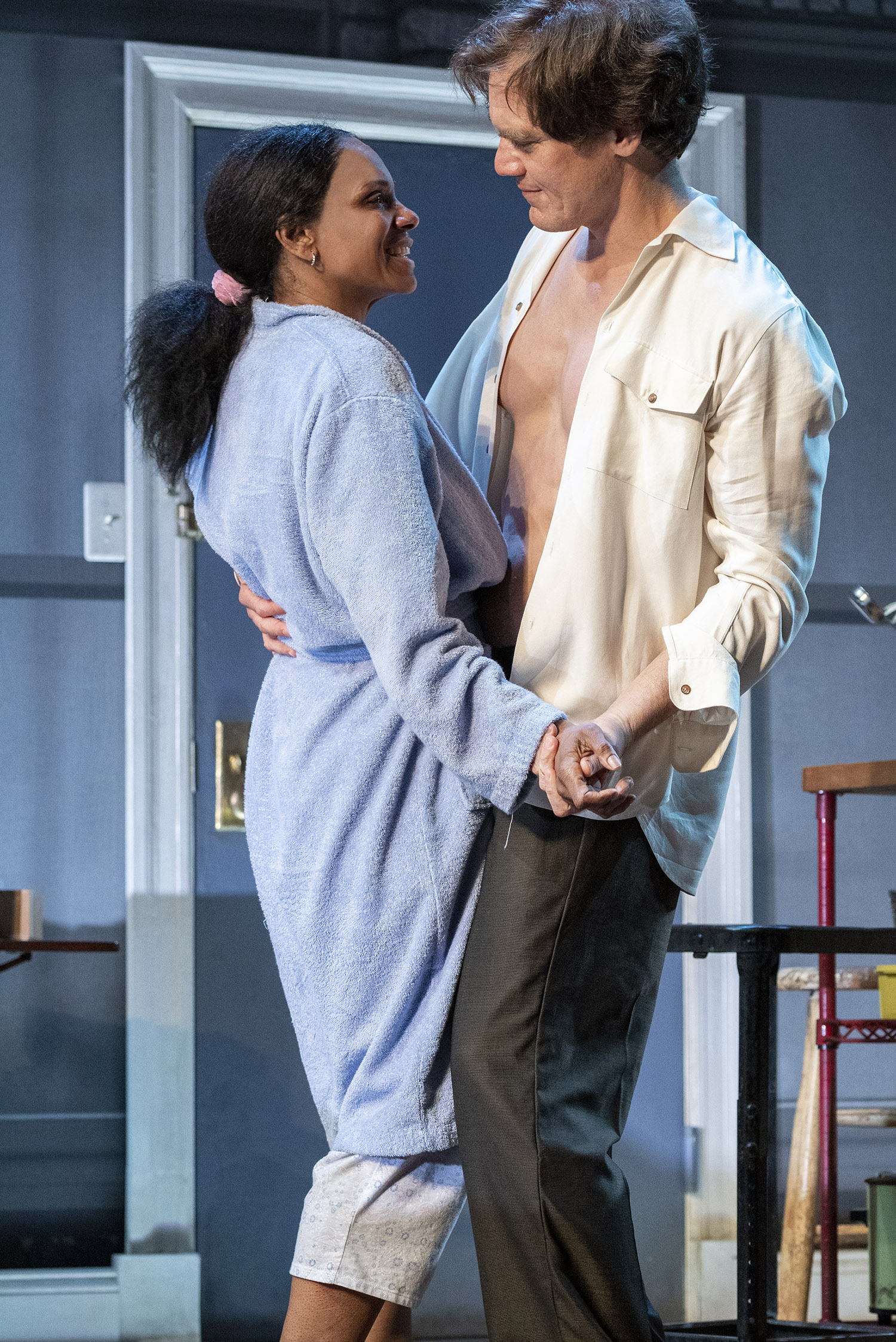 Audra McDonald and Michael Shannon in Terrence McNally's Frankie and Johnny in the Clair de Lune. Photo by Deen van Meer.