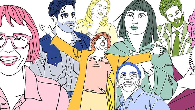 Tony-nominated actors and actress on Broadway