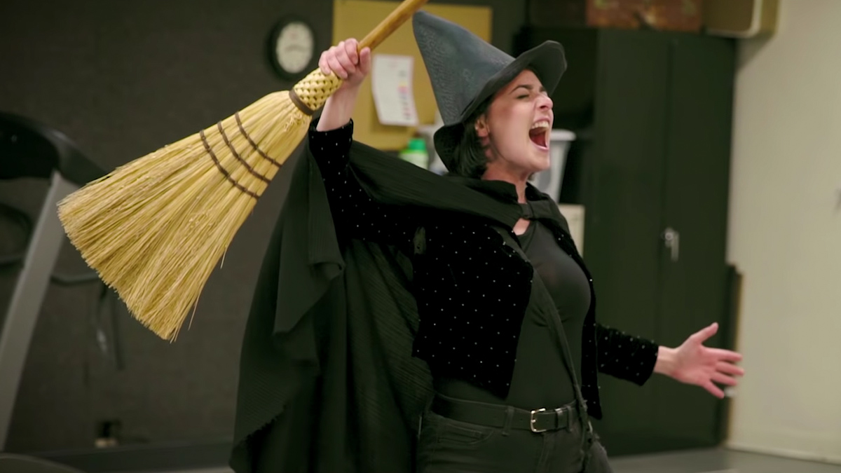 Hannah Corneau in rehearsals for her Broadway debut in Wicked