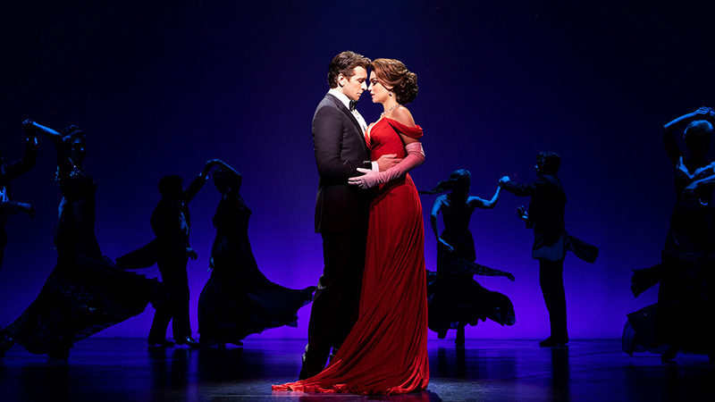Andy Karl and Samantha Barks in the Broadway production of Pretty Woman: The Musical