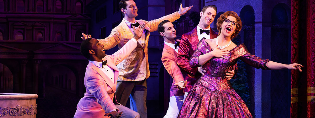 Santino Fontana and the Broadway company of Tootsie the Musical