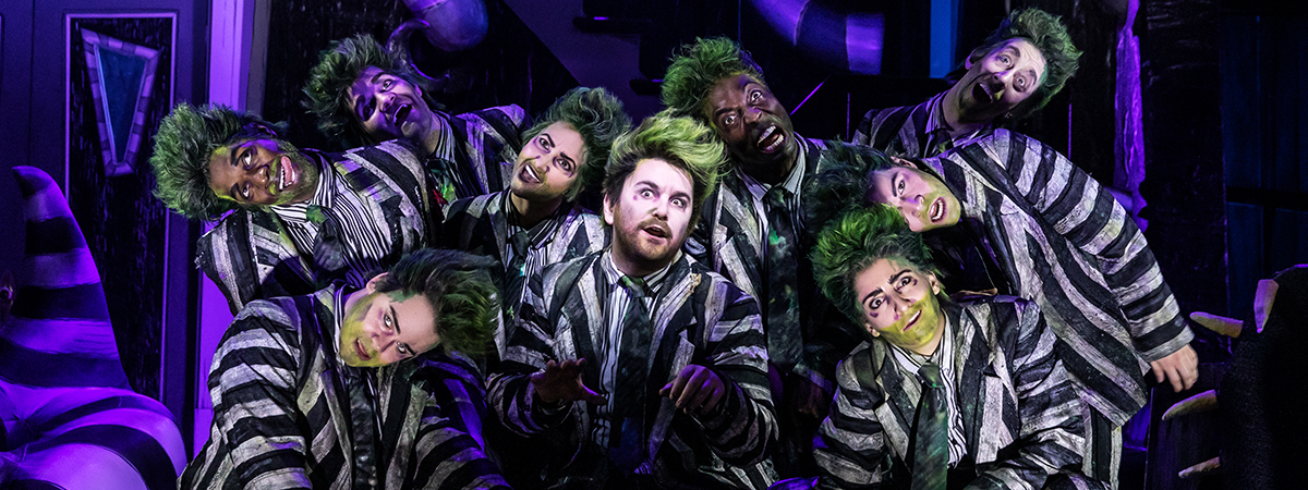 Alex Brightman and the Broadway cast of Beetlejuice the musical